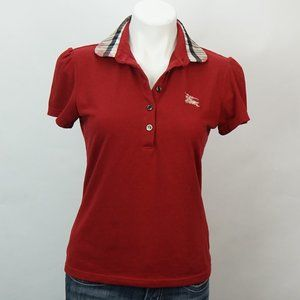 Burberry London Polo Shirt Womens Nova Check Heart